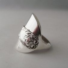 Unusual Gift Handmade Antique Sterling Silver 925 Spoon Ring Date 1909 Unique